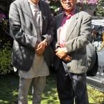 जोशीका साथमा लेखक नरेन्द्रराज प्रसाई (दायाँ)